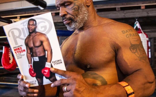 Mike Tyson said he cried for a week in bed because of the physical pain caused by a boxing training video he filmed earlier this year