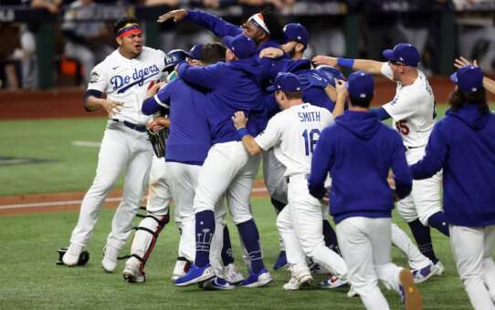 L.A. DODGERSWORLD SERIES CHAMPS!!!But Justin Turner Pulled After Positive COVID Test
