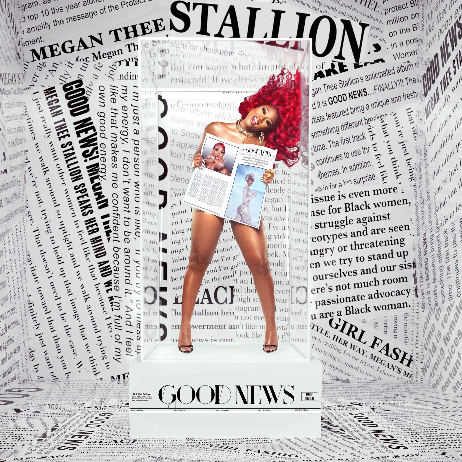 Megan Thee Stallion announces debut album with naked newspaper shot