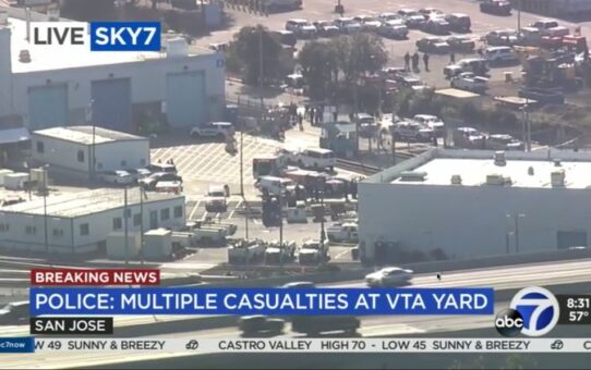 9 dead, including suspect, after transit worker opens fire on San Jose railyard