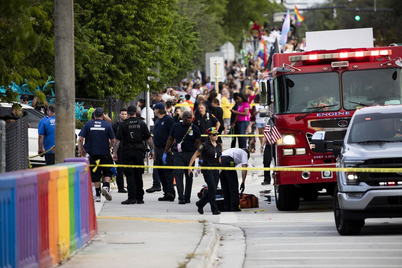 PHOTOS: Vehicle drives into crowd at Wilton Manors Pride parade, killing at least one and injuring others