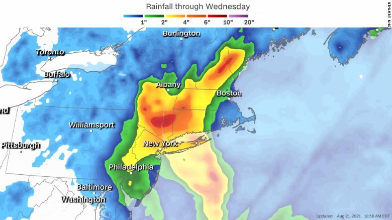 Henri strengthens into a hurricane on path to Northeast coast